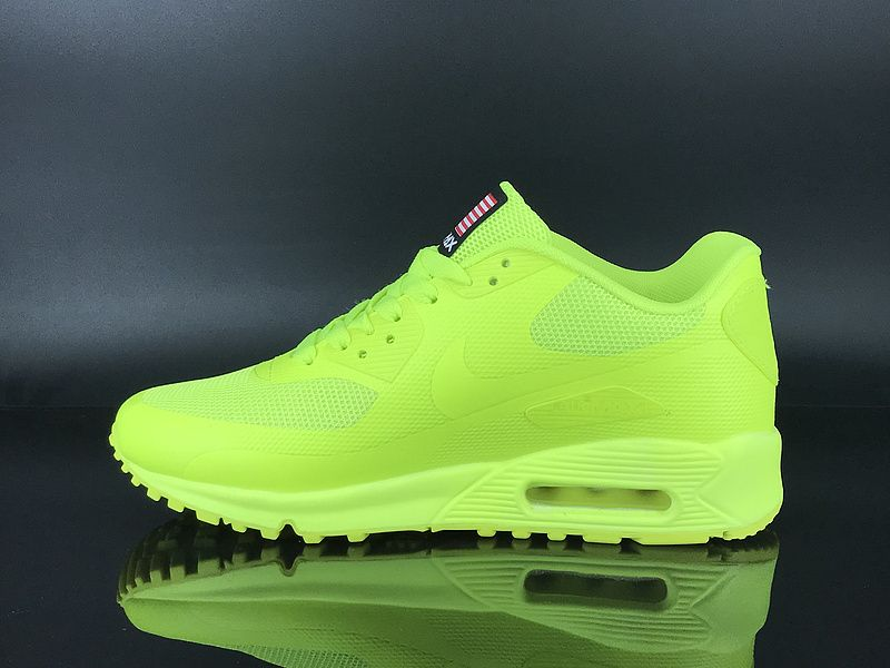 wholesale outlet best website cheaper Mens Nike Air Max 90 Hyperfuse QS USA Running Shoes Volt Neon neon ...