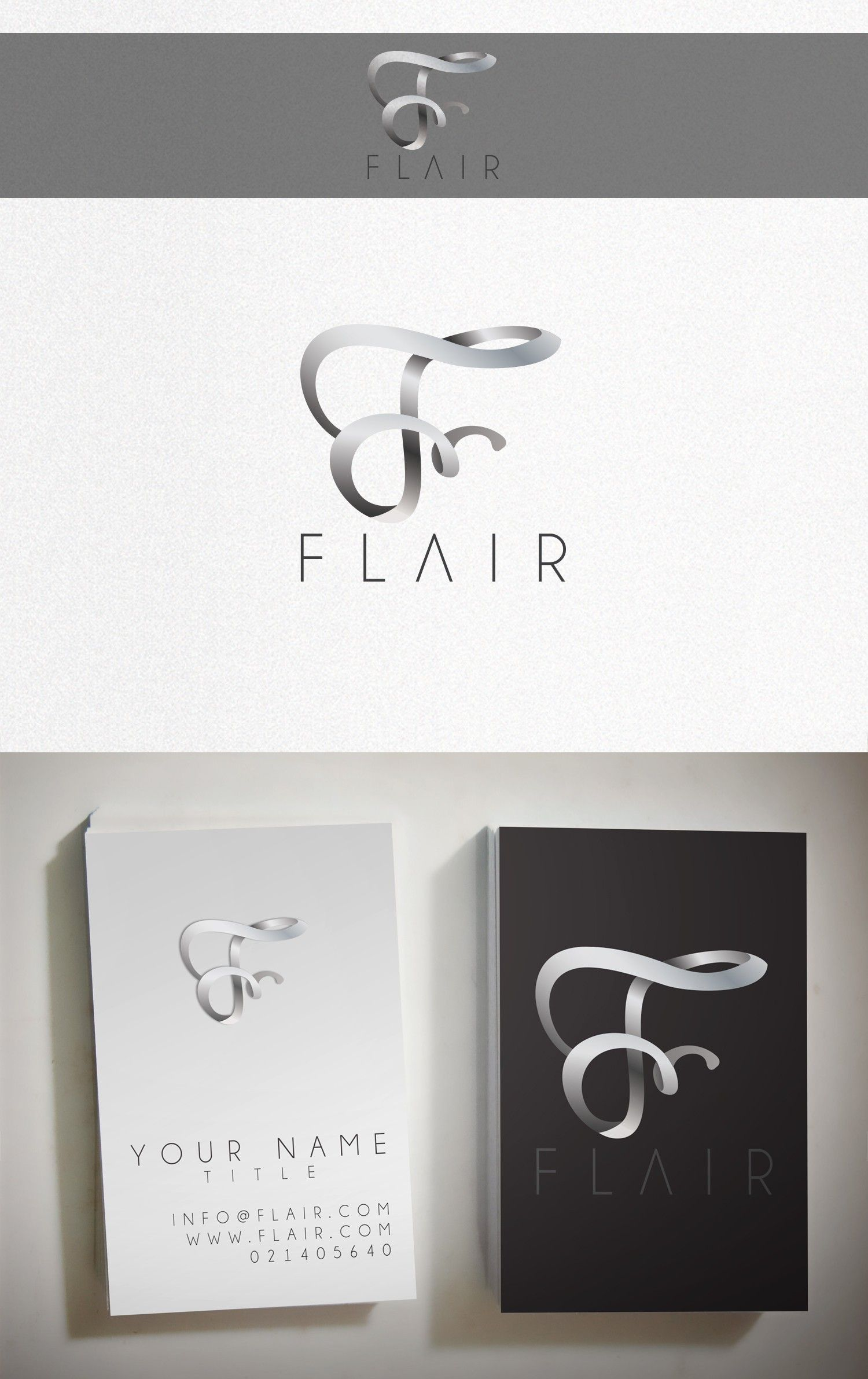 Wordmark logo and business card by RotRed for a fashion brand