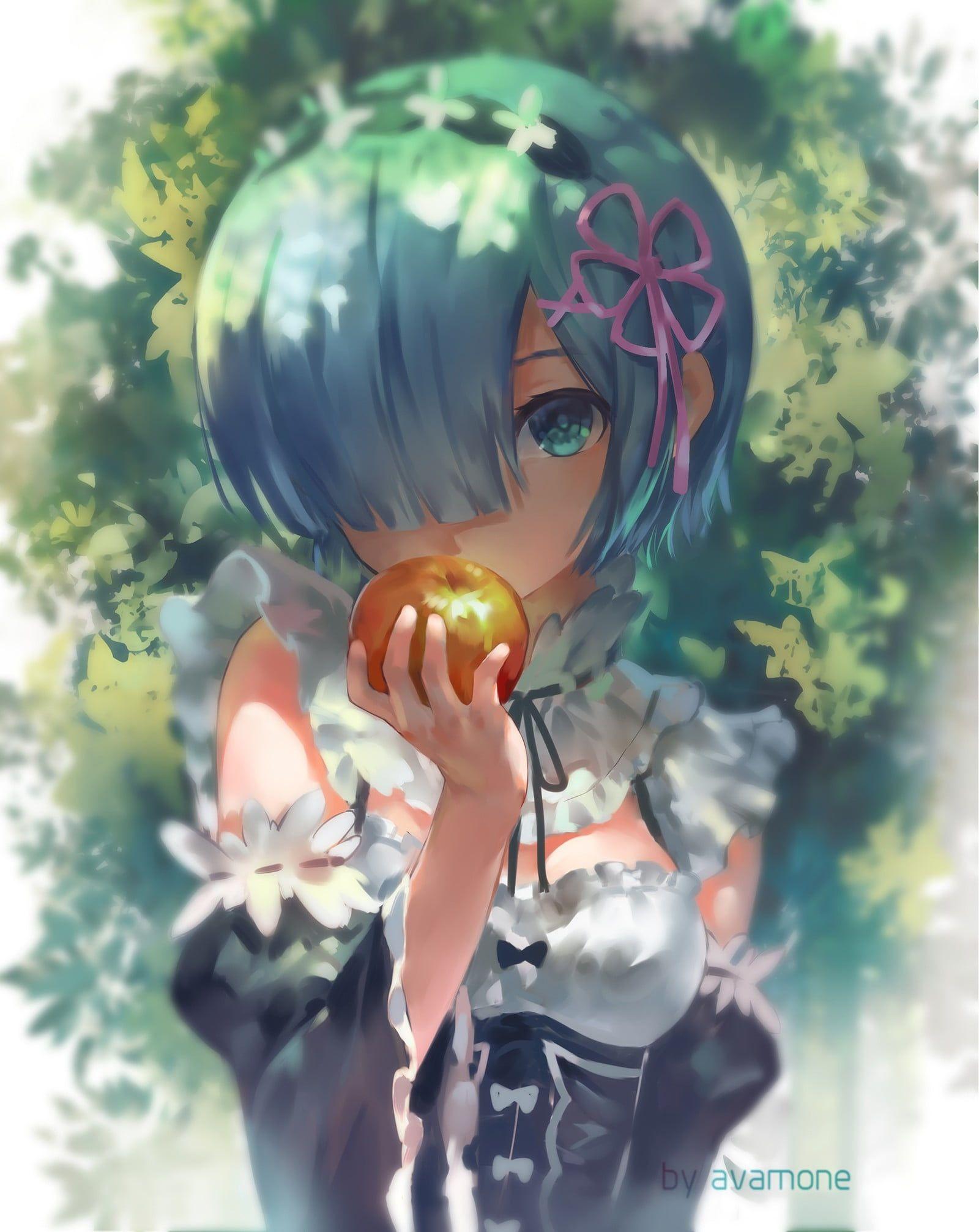 HD wallpaper: anime, anime girls, Re:Zero Kara Hajimeru Isekai Seikatsu, Rem (Re: Zero)