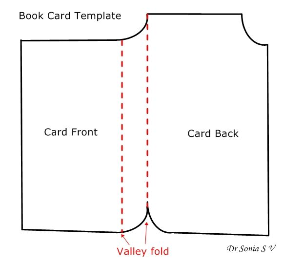 Book shaped card tutorial and template | Shaped Cards | Pinterest ...