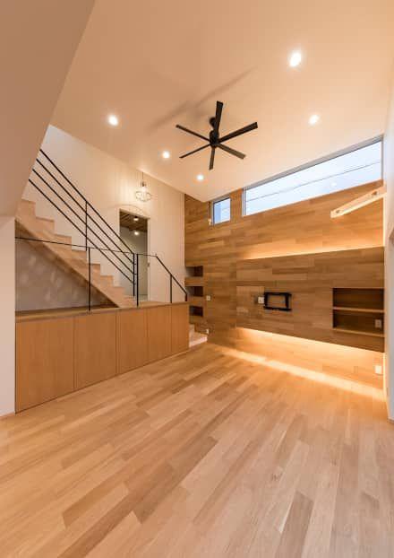姫路市広畑区の家 中村建築研究室 エヌラボ N Lab が手掛けたリビングです インテリア レイアウト インテリア リビング階段 間取り