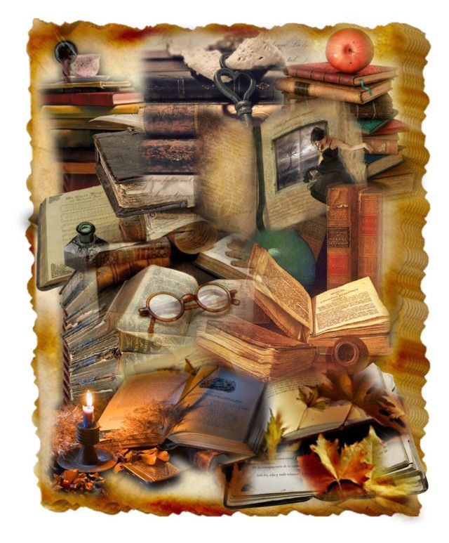 """""""Love of Books"""" by wickedangel ❤ liked on Polyvore featuring art"""