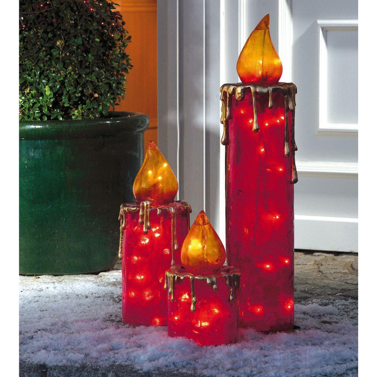 elektrische maxi kerzen f r drinnen und drau en weihnachten weihnachten kerzen und. Black Bedroom Furniture Sets. Home Design Ideas