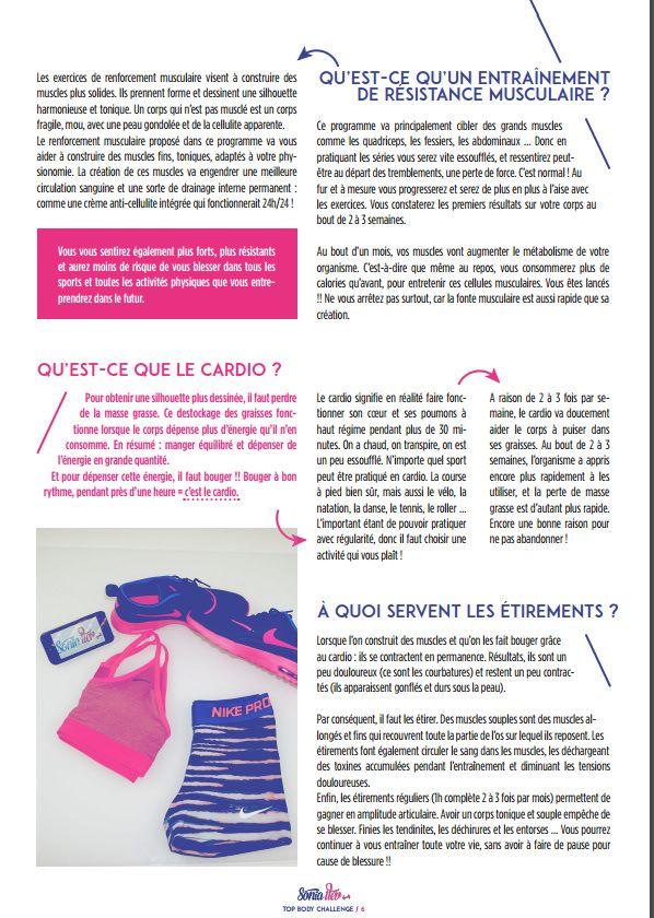 pdf top body challenge gratuit TBC Pinterest - bilan energetique maison gratuit