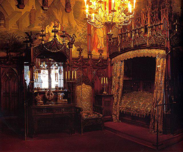 Gothic Schlafzimmer ~ Schloss neuschwanstein schlafzimmer des königs castles