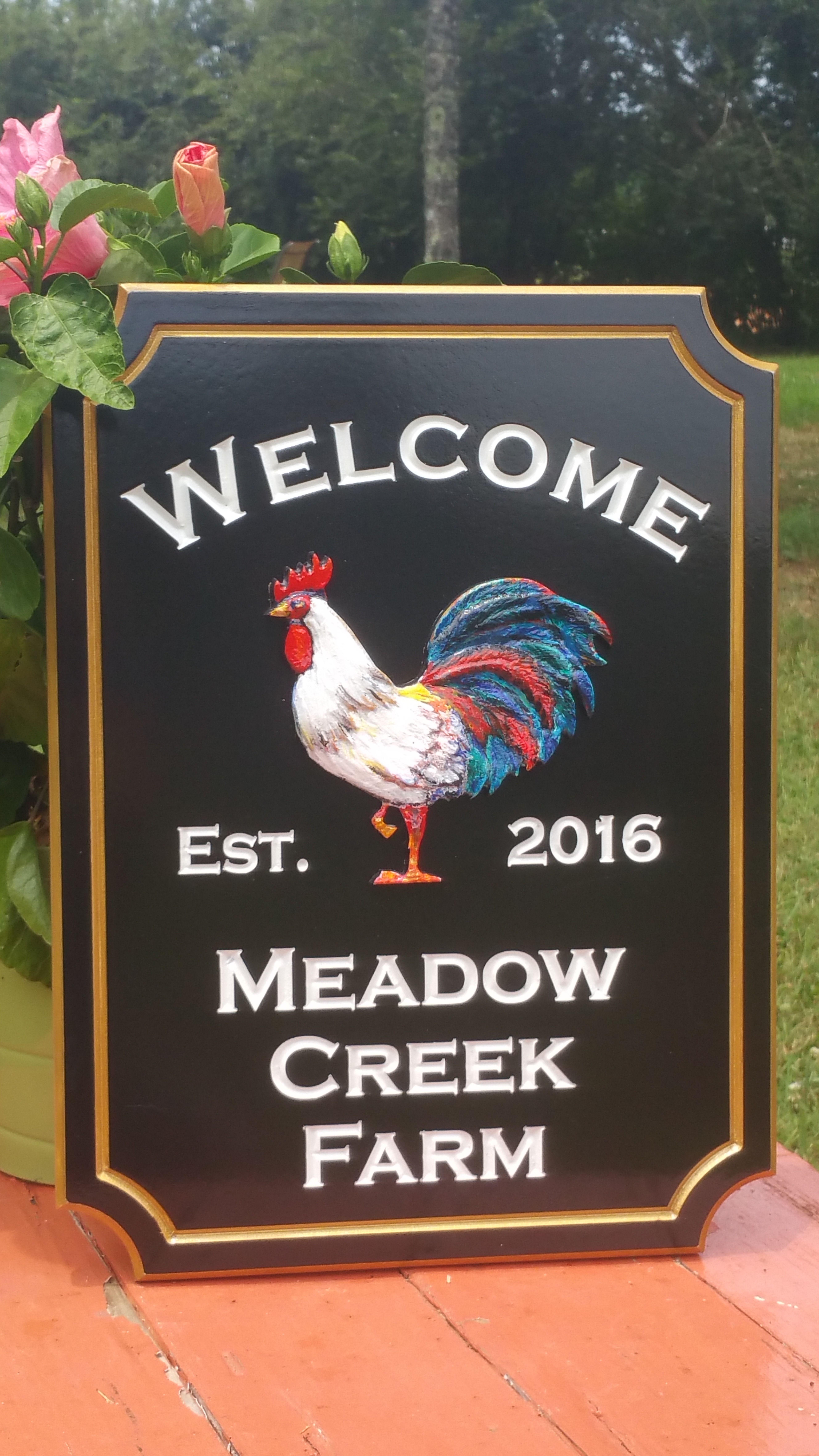 Farm Address Sign with 3
