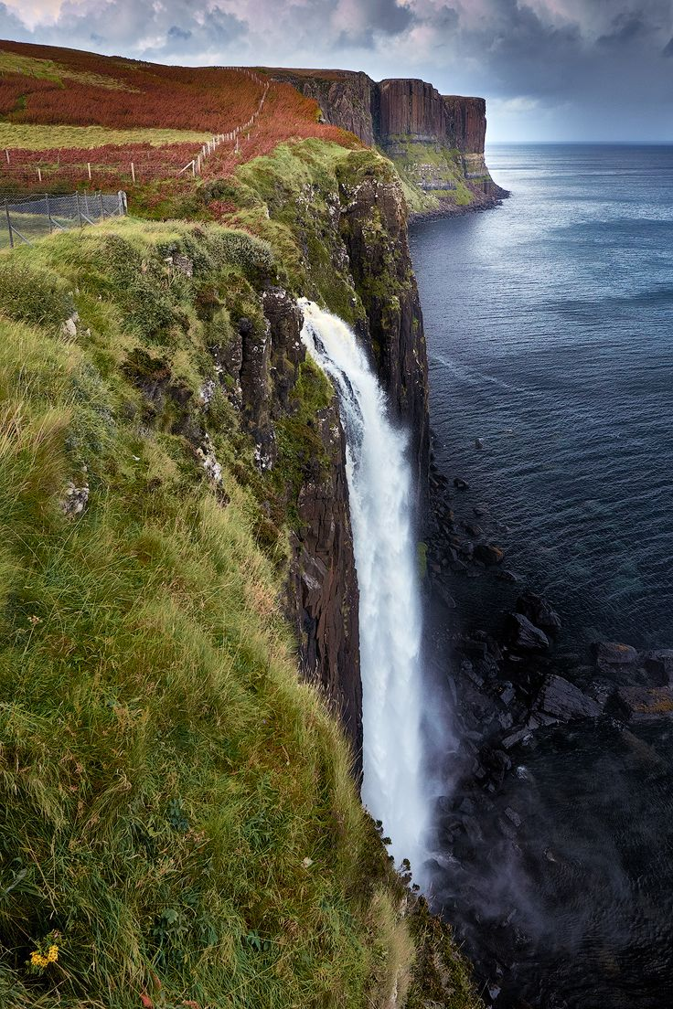 Mealt Falls and Kilt Rock, Trotternish Peninsula, Isle of Skye, Hebrides, Highlands, Scotland by Ian Hex of LightSweep