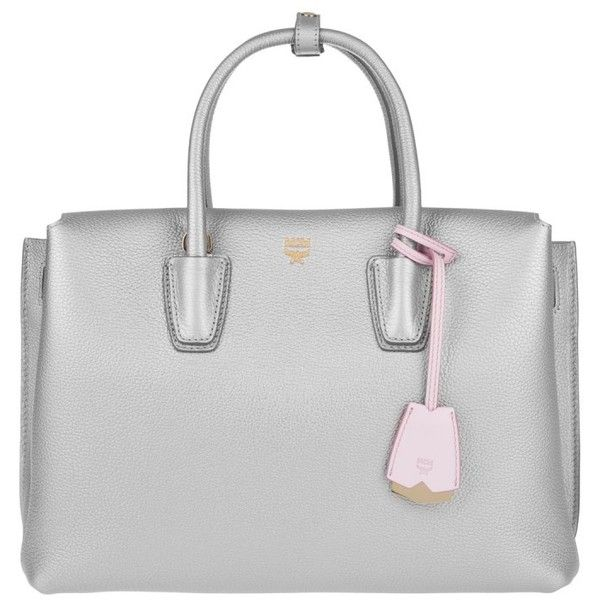 MCM Handle Bag - Milla Tote Medium Silver - in silver - Handle Bag for... (£729) ❤ liked on Polyvore featuring bags, handbags, silver, mcm purse, handbags totes, man bag, tote purses and silver tote handbags