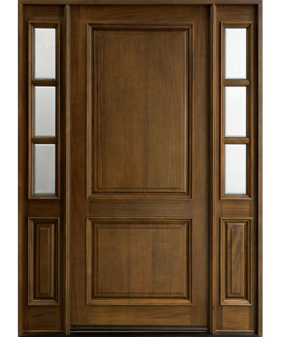 Classic Series Mahogany Solid Wood Front Entry Door Single With 2 Sidelites Db 301w 2sl