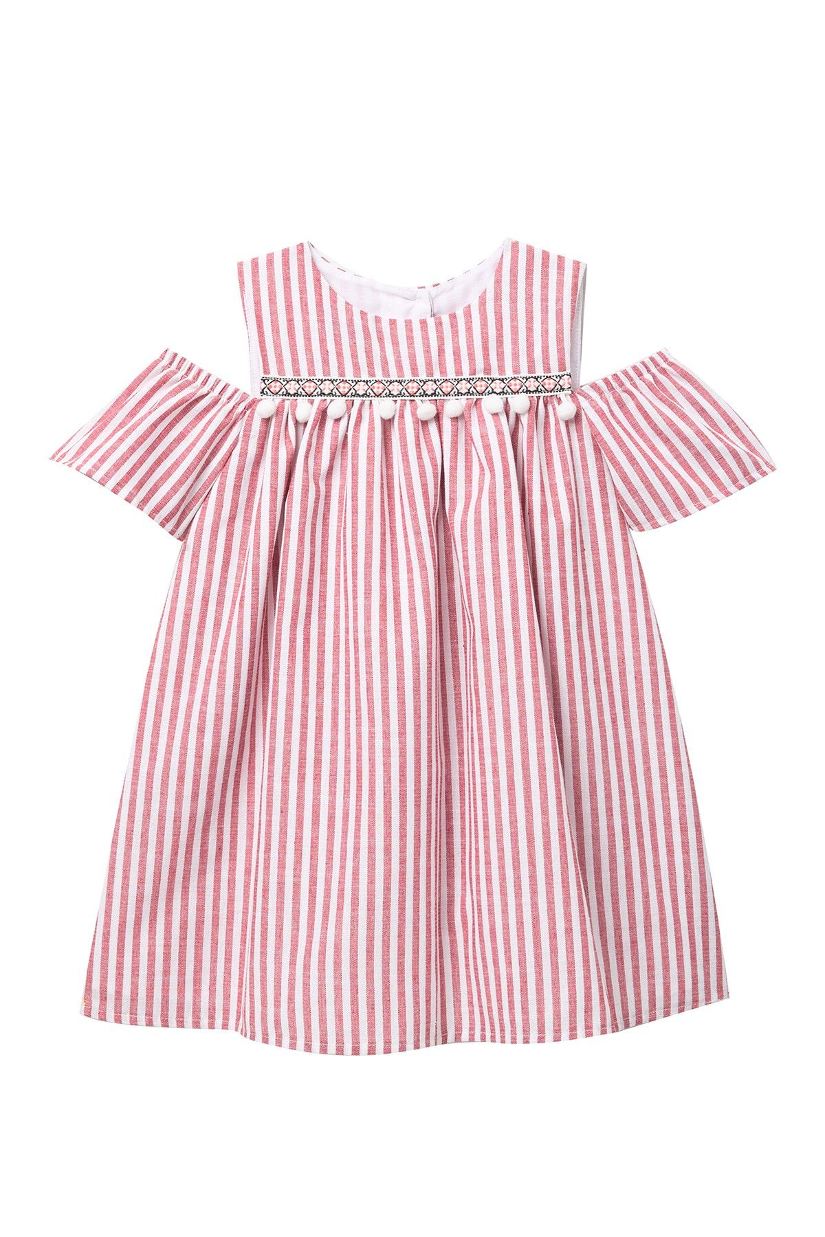 efedaa7601c4 Pastourelle by Pippa and Julie - Stripe Cold Shoulder Dress (Little Girls)  is now 60% off. Free Shipping on orders over $100.