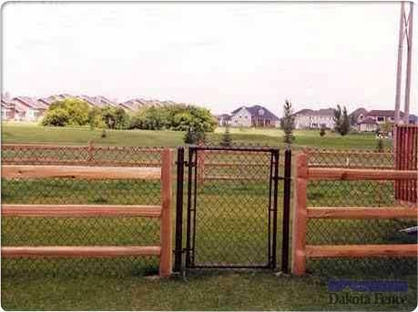 Split Rail Chain Link Fence Chain Link Fence Fence