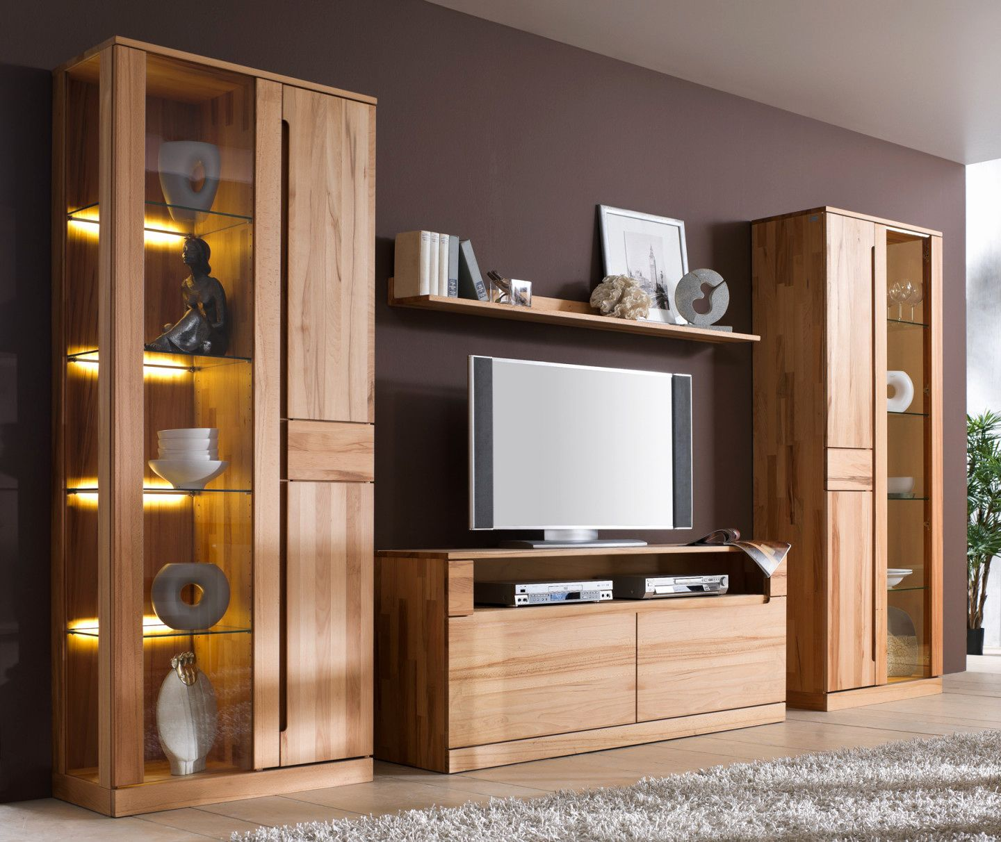 Wohnzimmerschrank Massiv Buche  Furniture, Home office design