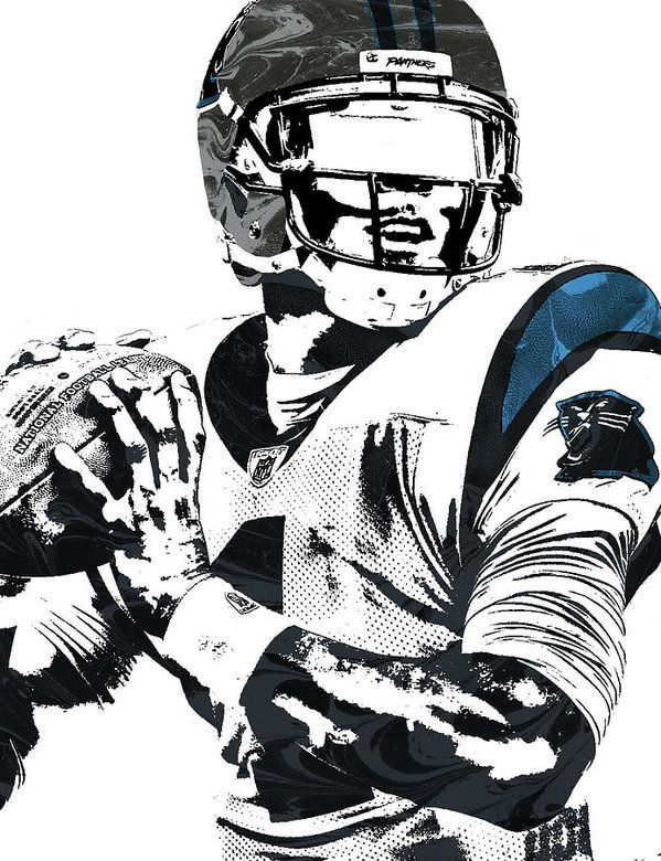 Cam Newton Carolina Panthers Pixel Art 3 Art Print By Joe