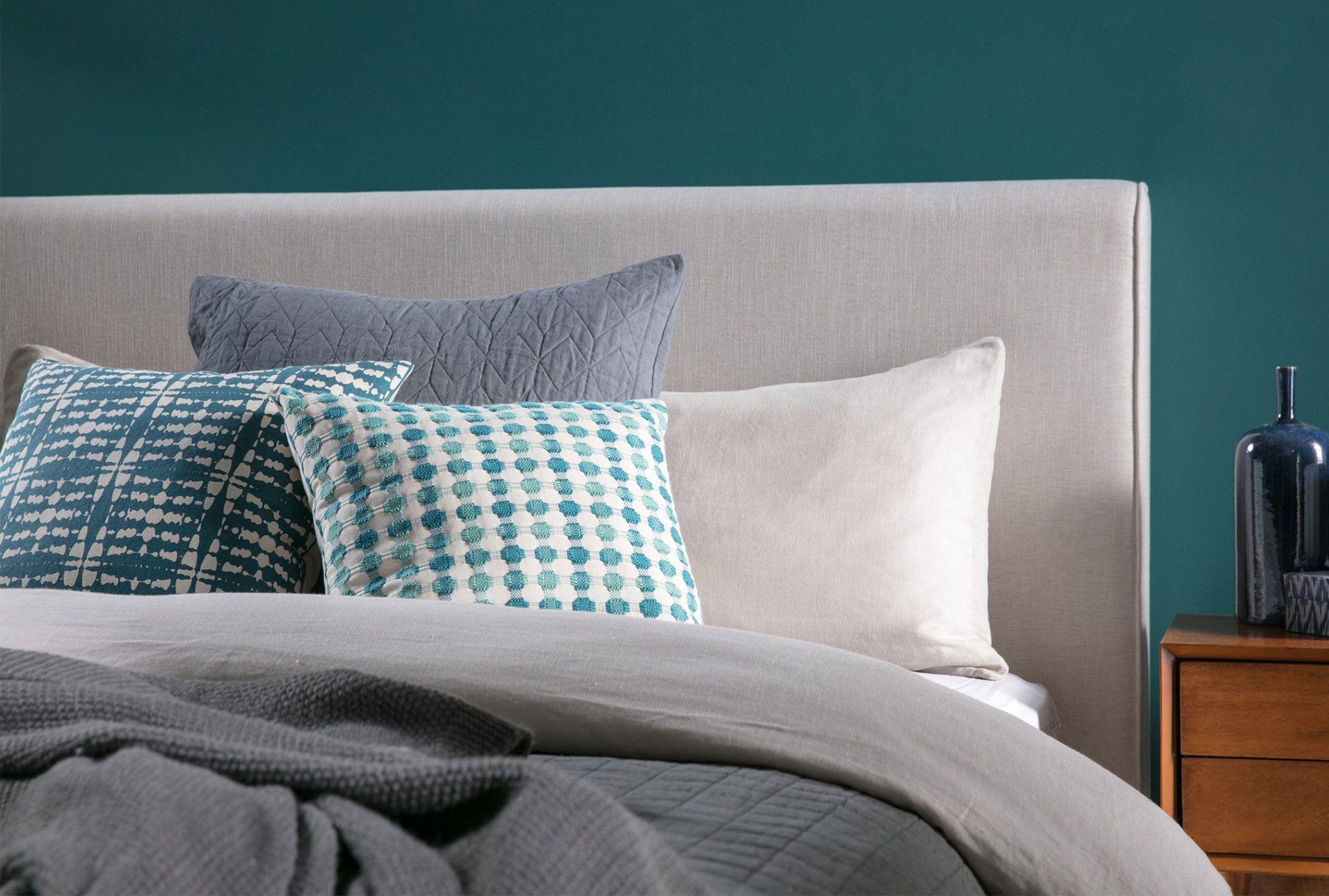 Best Queen Upholstered Panel Bed Dean Sand Beige 395 640 x 480