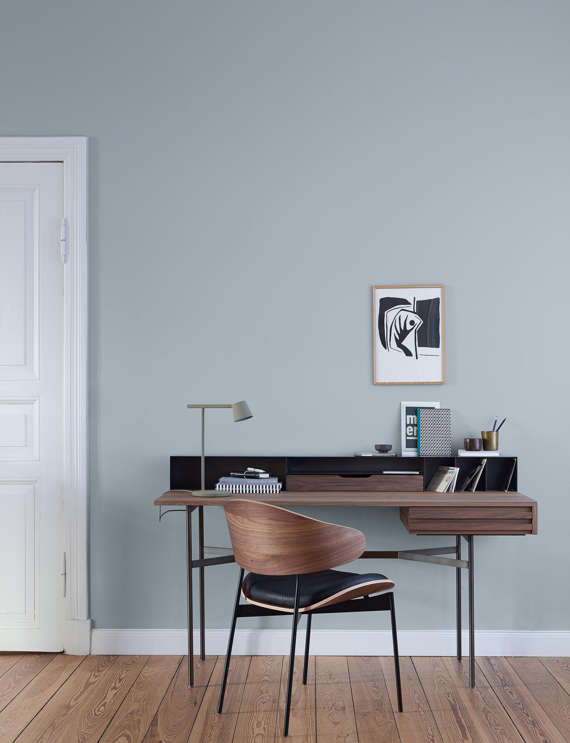 Modern Einrichten Alpina Feine Farben Steinblaue Schonheit Grau Blaue Wandfarbe Alpinafeinefarben Erlesene Pigment In 2020 Blaue Wandfarbe Feine Farben Wandfarbe