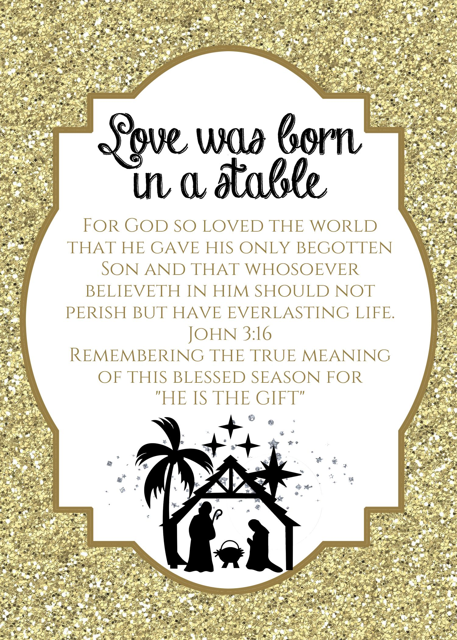 Love this Nativity Sign Printable that I will be framing