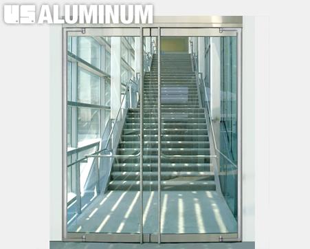 08 4236 Crl Us Aluminum Balancer Series Herculite Style Glass