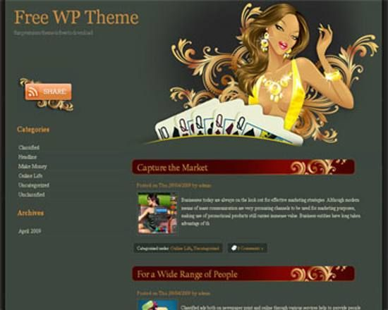 20 Best And Free Poker Themes For WordPress | Freebies | Pinterest
