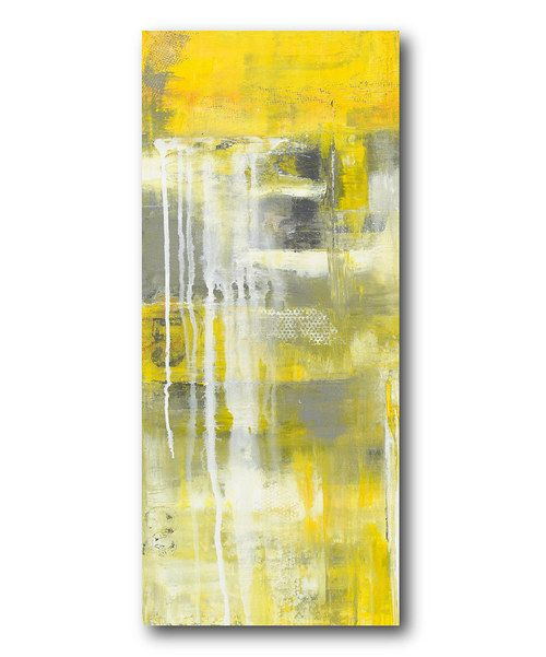 Take a look at this Mellow Yellow II Canvas Wall Art on zulily today ...