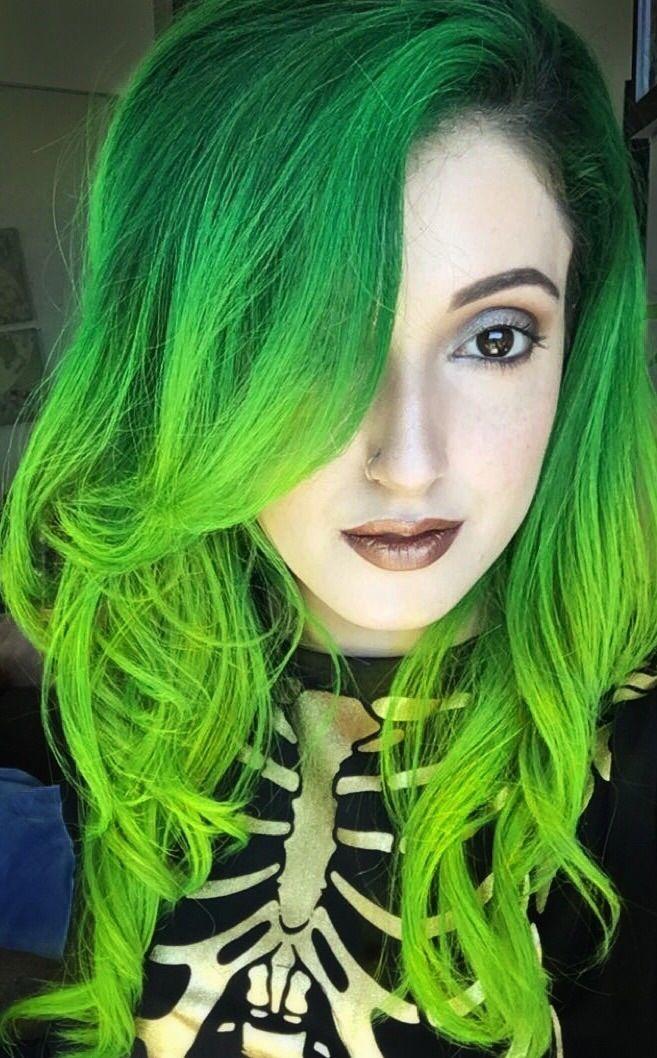 Pravana Vivids Green To Neon Green Grune Haare Haarfarben Und