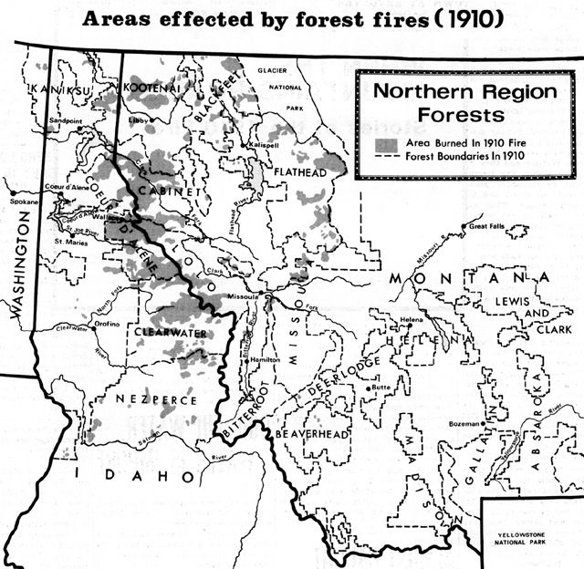 The Big Blowup Centennial Anniversary Is This Weekend Forest - Us forest service maps montana