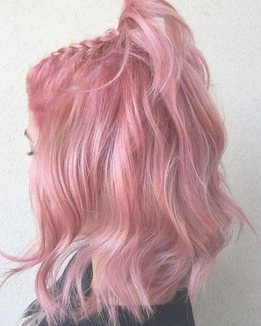 50 Bold And Subtle Ways To Wear Pastel Pink Hair Ways Bold Hair Pastel Pink Subtle Ways Wear In 2020 Pink Hair Dye Pastel Pink Hair Hair Color Pink