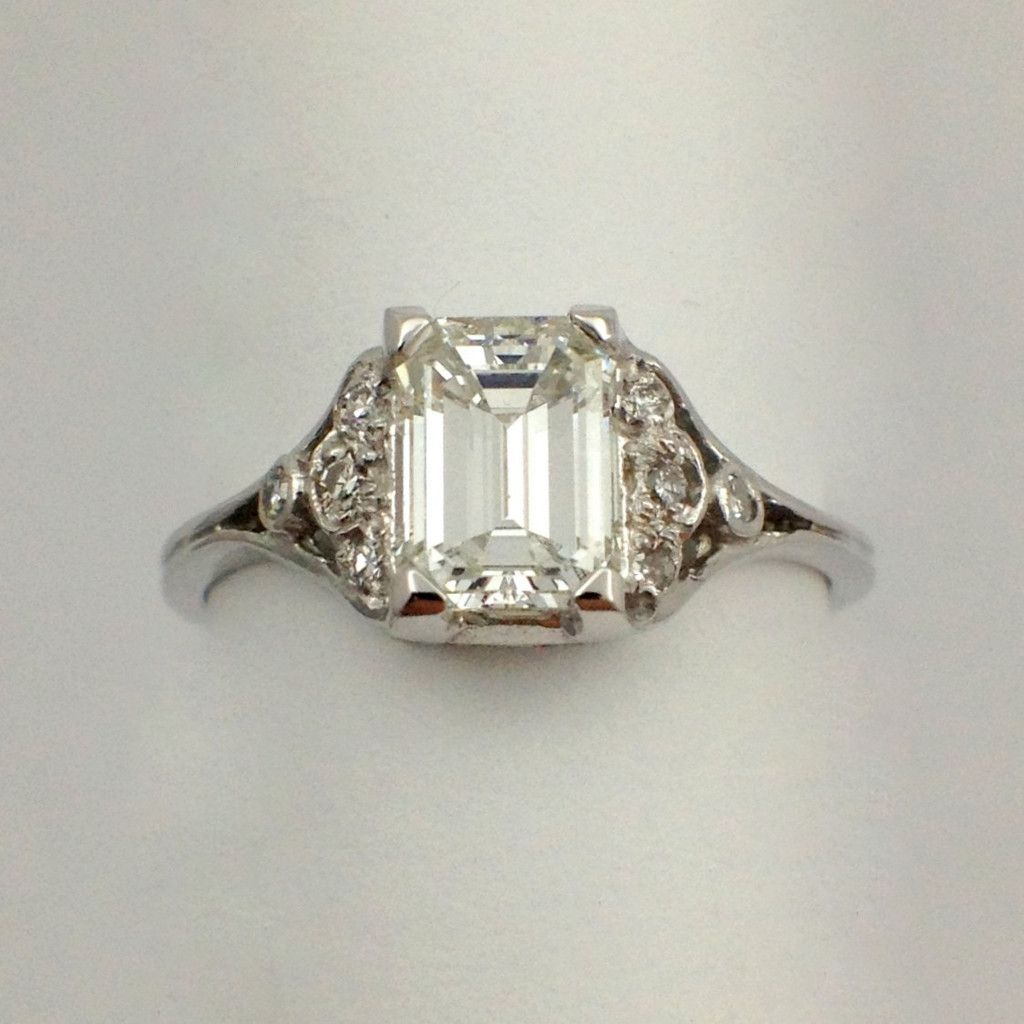 Antique Emerald Cut Diamond Ring More