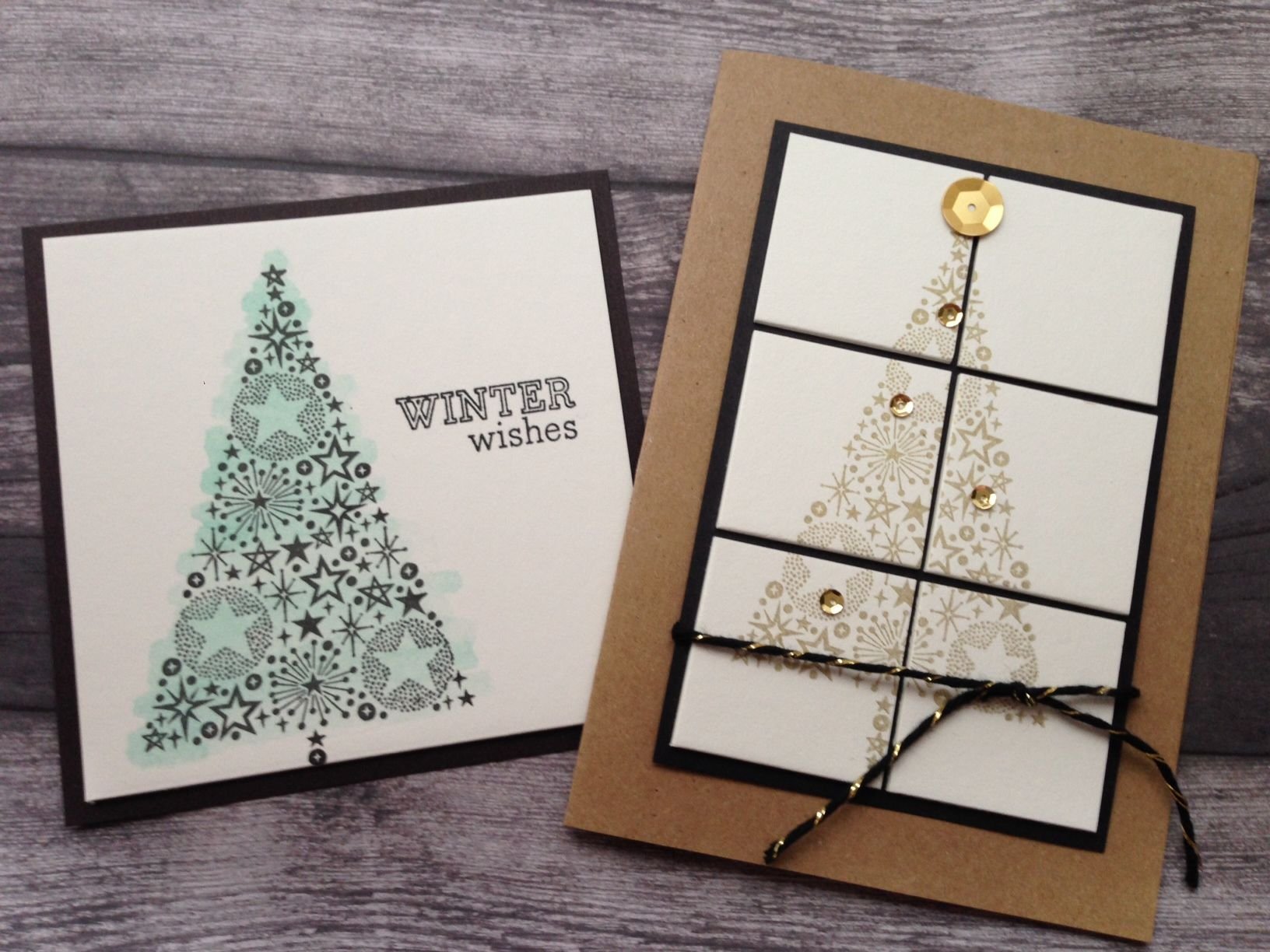 Holiday Crafts: Rubber Stamp Decorations images