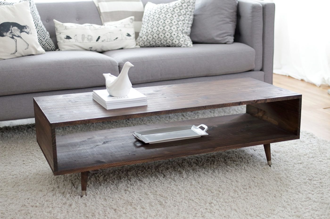 60 DIY Coffee Table Plans and Ideas with Form and Function | Couchtisch modern, Couchtisch holz, Wohnzimmertisch