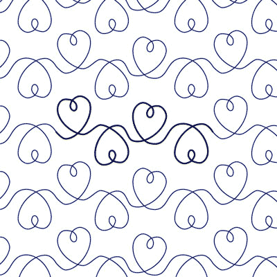 Heart String - Digital - Quilts Complete - Continuous Line Quilting Patterns