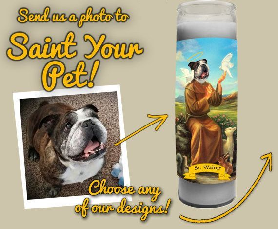 This Custom Candle For Your Grandfather Who Knows That All Dogs Go To Heaven Funny Candles Custom Candles