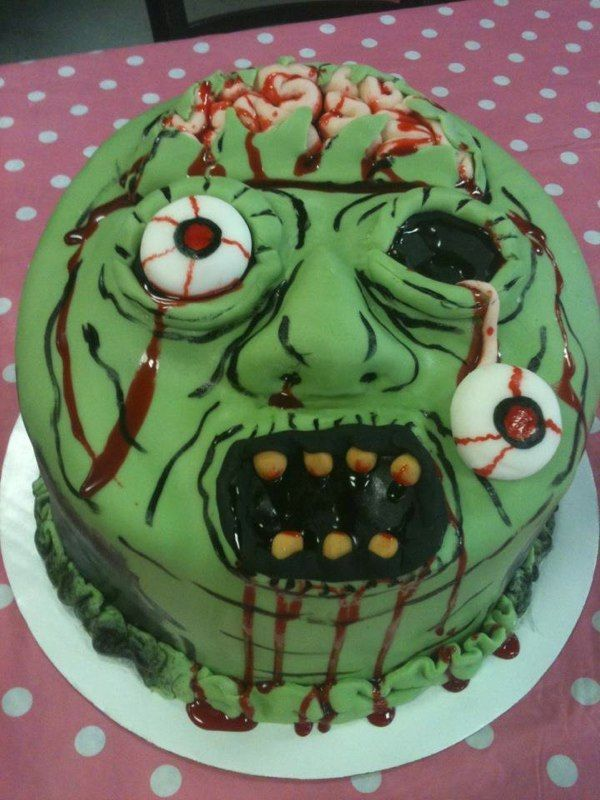 Image Result For Brain Birthday Cake Scary Cakes Zombie