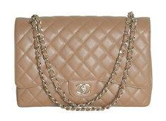 f41b9fed4ae Chanel Classic Flap Maxi Jumbo Taupe Τσάντα | ΤΣΑΝΤΕΣ ~ HANDBAGS ...