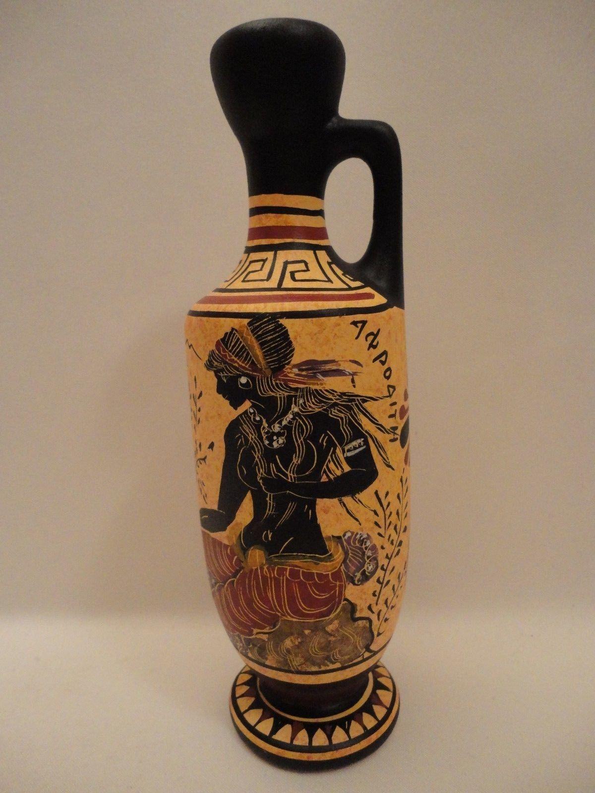 Goddess Aphrodite Adonis Ancient Greek Art Pottery Vase Lekythos Hand