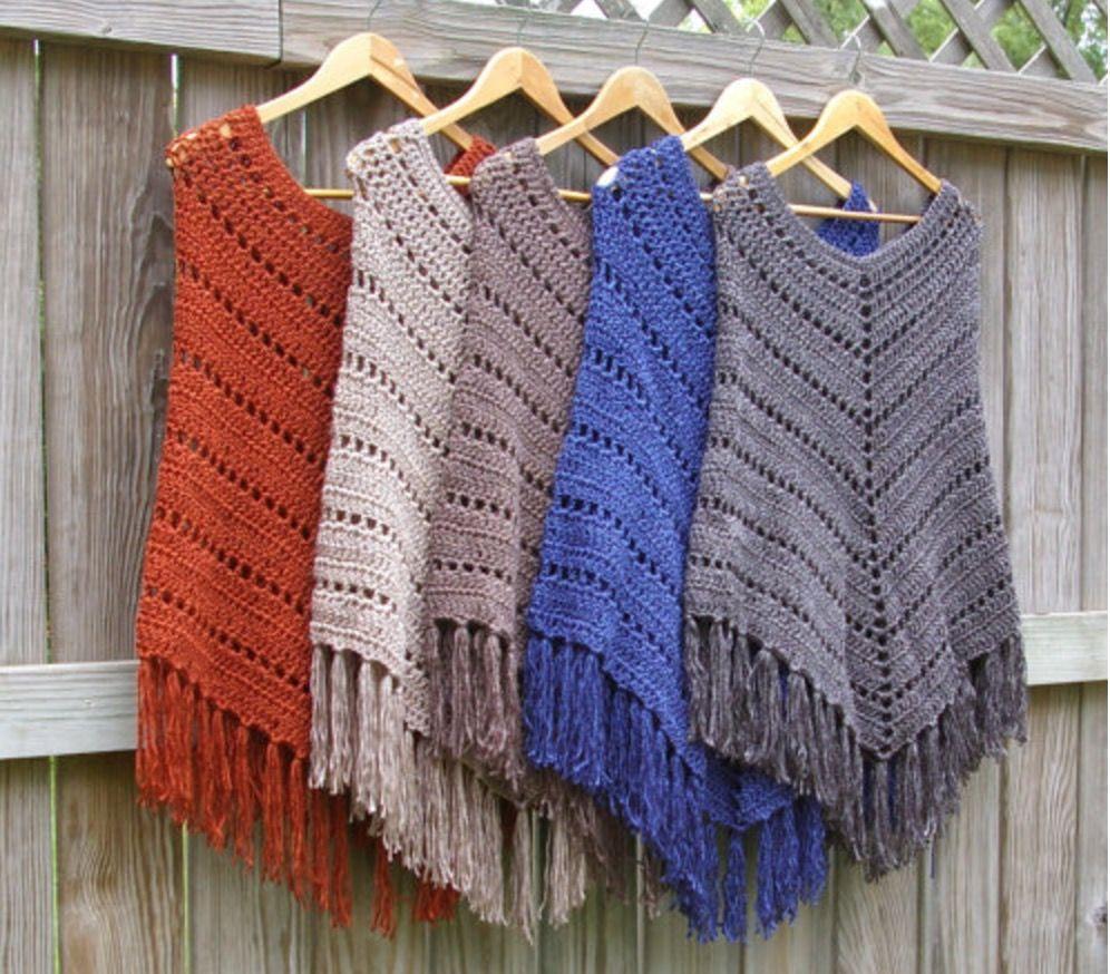 Crochet Poncho Free Pattern Best Ideas | Tücher, Schals und Handarbeiten