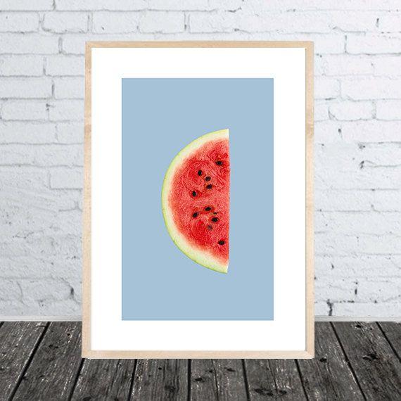 Küche Kinderzimmer Print Digitaldruck Melone von SundayVibesStudio ...