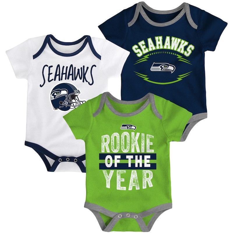 2b073bd0 Seattle Seahawks Infant Kicking & Screaming Three-Piece Bodysuit Set ...