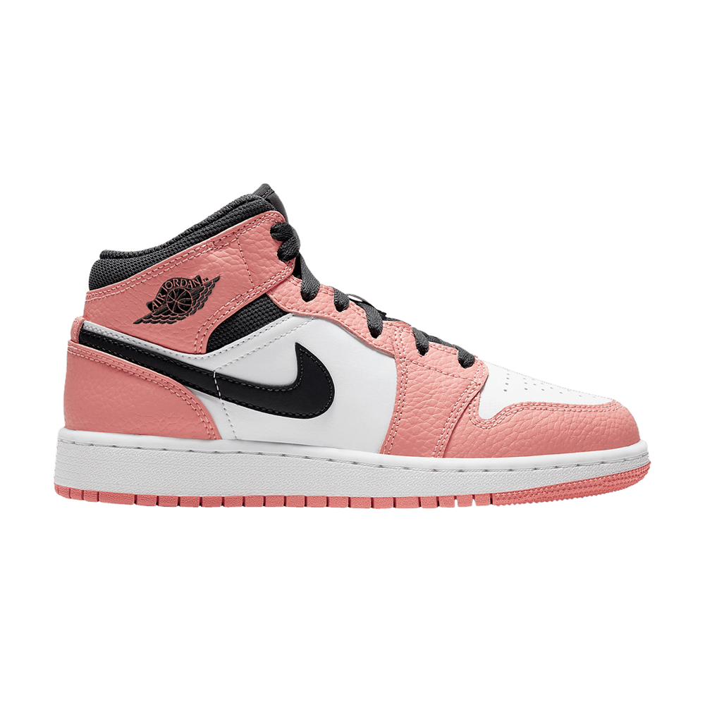 Air Jordan 1 Mid GS 'Pink Quartz' in 2020 Jordan shoes