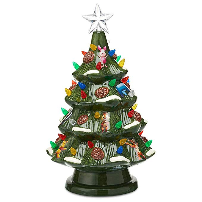 Amazon Com Disney Retro Ceramic Light Up Tree Theme Parks 2018 Top100deals Ceramic Light Disney Christmas Light Up Tree