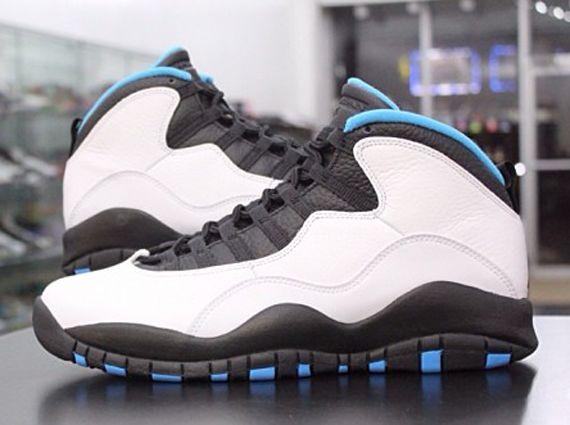 on sale 14d6d 2ea55 Air Jordan 10 - White - Dark Powder Blue - Black ...