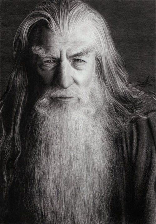 """Ian McKellen as Gandalf the Grey in """"The Lord of the Rings: The Fellowship of the Ring"""", 2001"""