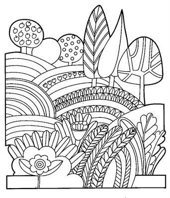 tűfilc táj   Fichas para colorear   Pinterest   Colorear, Decoración ...