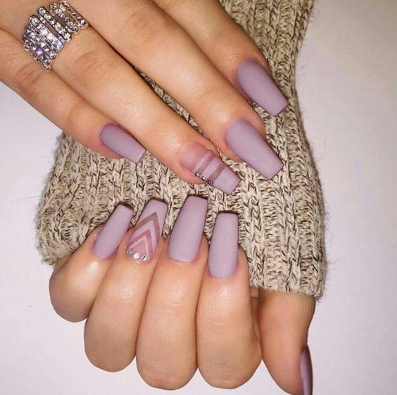 Uñas mate: | Nails | Pinterest | Manicure, Matte nails and Makeup
