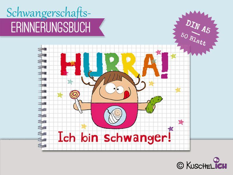 """""""Schwangerschaft""""+Erinnerungsbuch+♥+DIN+A5+von+Kuschelich+auf+DaWanda.com"""