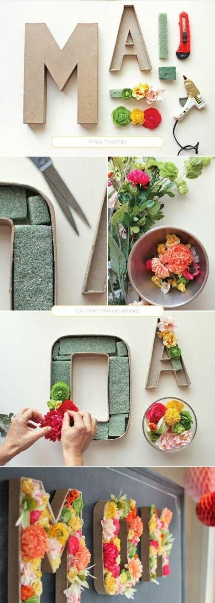 1001 ideen wie sie eine kreative wanddeko selber machen diy und geschenke decoraci n de - Fruhlingsdeko tisch ...