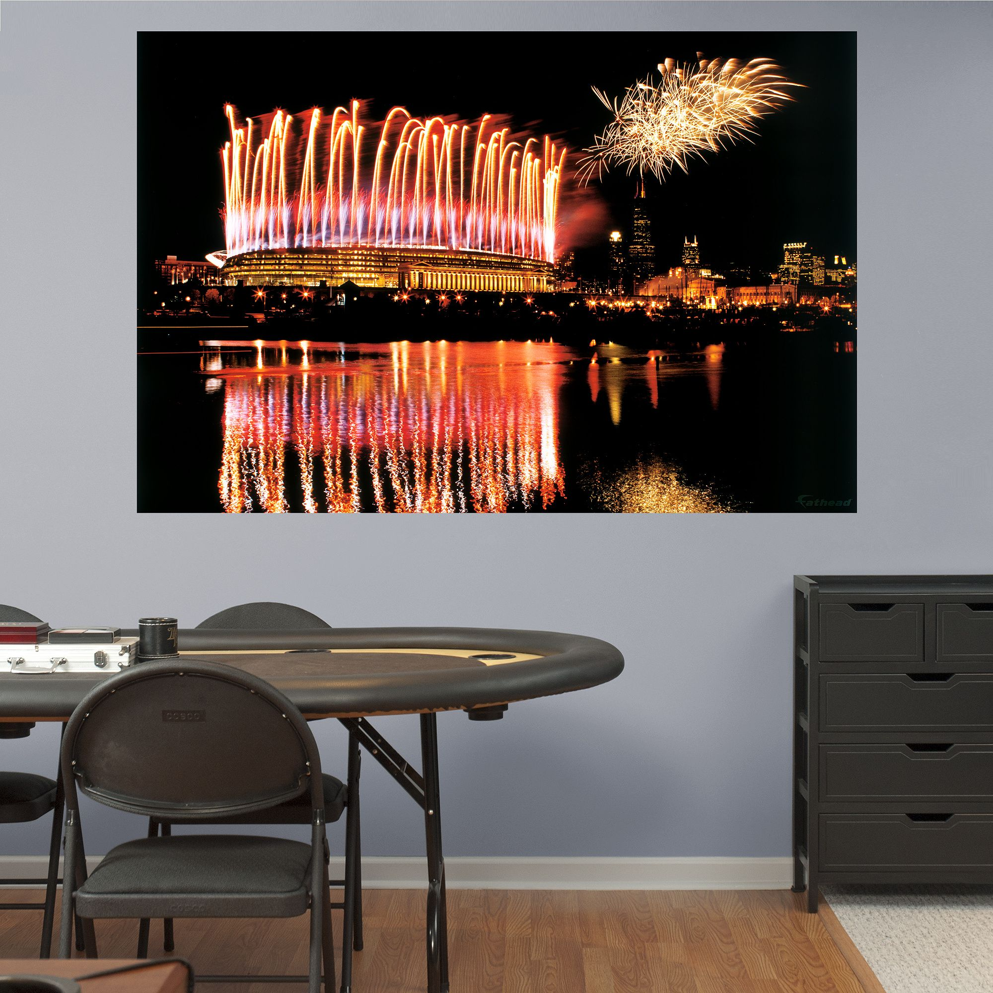 Soldier Field Fireworks Mural Fathead Wall Graphic | Chicago Bears Wall  Decal | Sports Décor | Part 96