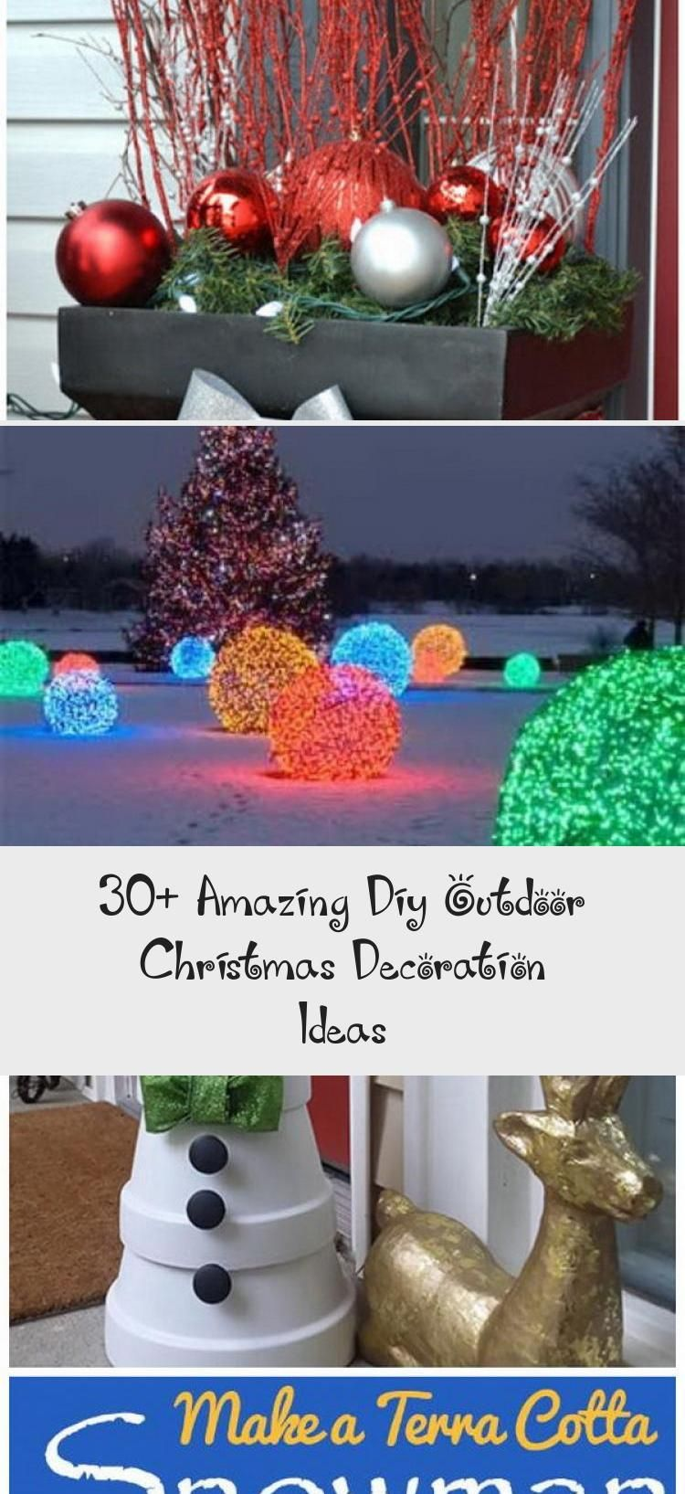 30 Amazing Diy Outdoor Christmas Decoration Ideas In 2020 Christmas Decorations Diy Outdoor Outdoor Christmas Outdoor Christmas Decorations
