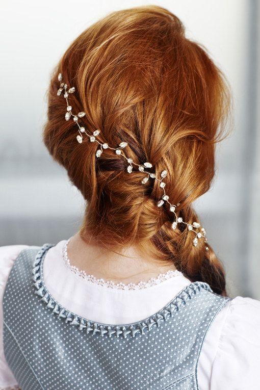 Frisuren standesamt geflochten  Mittellange haare