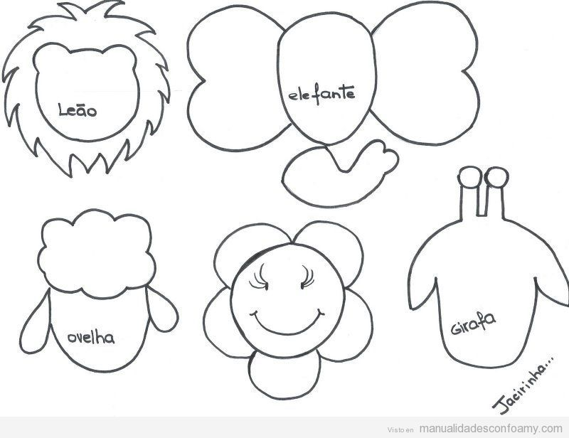 Plantillas con cabezas de animales para decorar lápices con goma eva ...