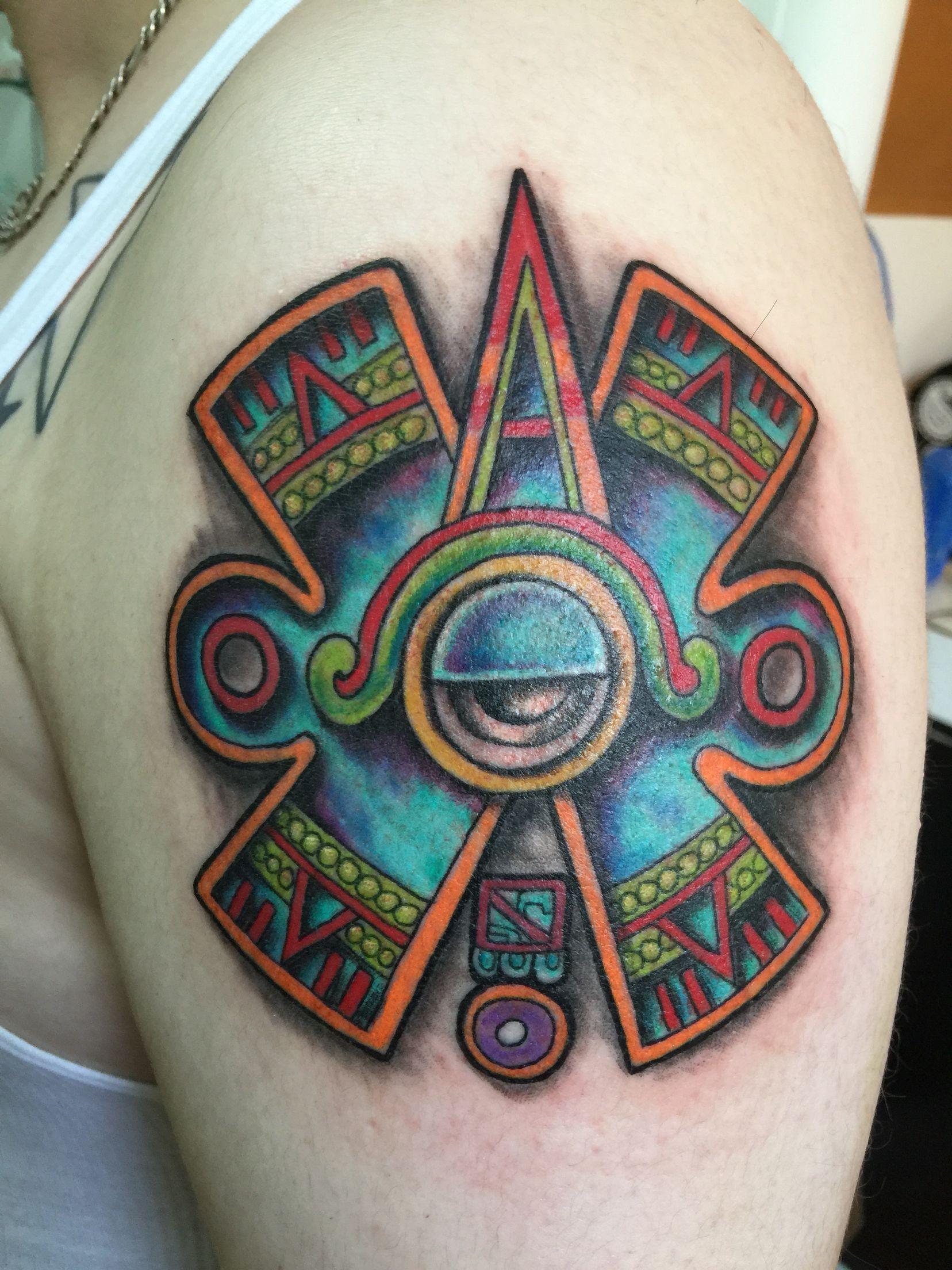 Ollin Tatuajes Prehispánicos Movimiento Aztlan Tatuaje Hecho Por